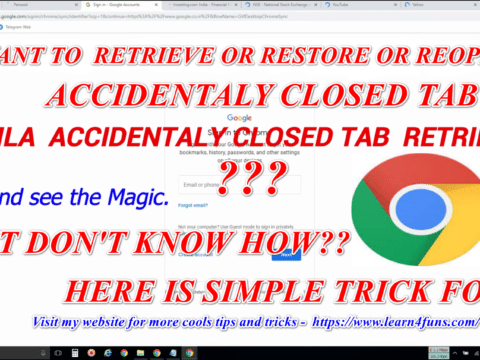 Reopen or Retrive accidentaly closed tab easily
