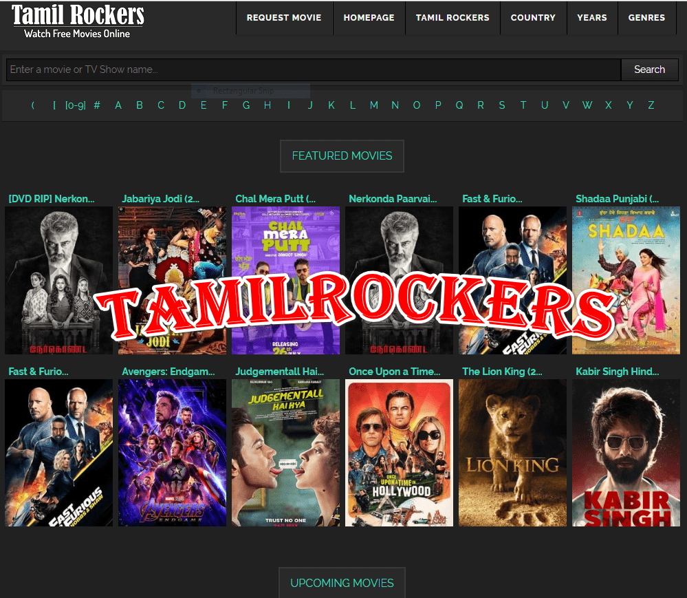TamilRockers 2019 -Download Latest released HD Telugu, Tamil, Hindi