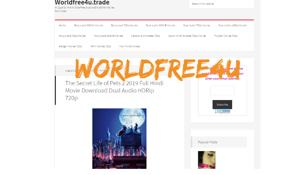 WorldFree4u 2019 -worldfree4u 300mb hindi movie Download